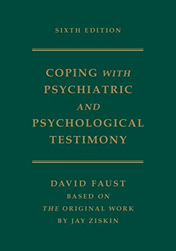 9780195174113: Ziskin's Coping with Psychiatric and Psychological Testimony