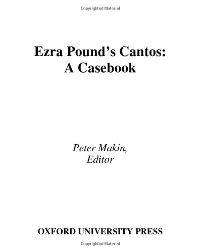 9780195175288: Ezra Pound's Cantos: A Casebook (Casebooks in Criticism)