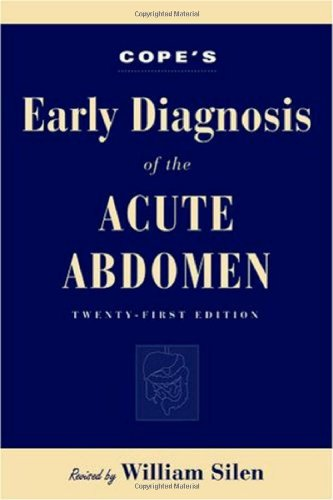 9780195175455: Cope's Early Diagnosis of the Acute Abdomen