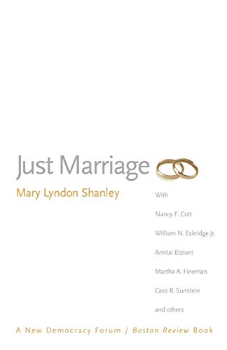 Just Marriage (Paperback): Mary Lyndon Shanley