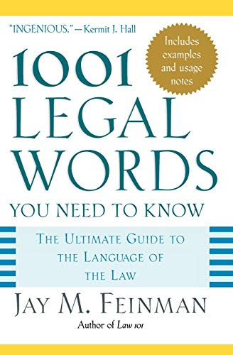 9780195181333: 1001 Legal Words You Need to Know: The Ultimate Guide to the Language of the Law