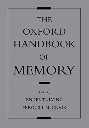 9780195182002: The Oxford Handbook of Memory (Oxford Handbook Series)