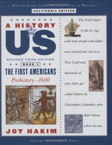 9780195182309: A History of US: Book One: The First Americans