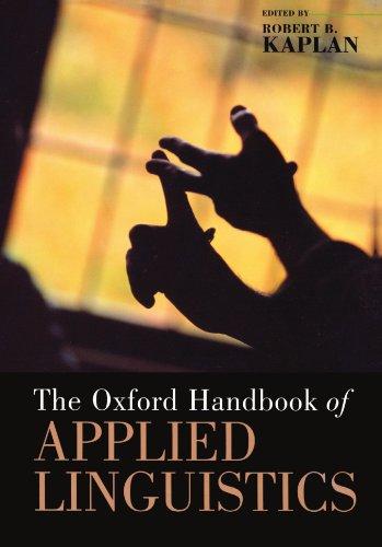 9780195187915: The Oxford Handbook of Applied Linguistics (Oxford Handbooks)