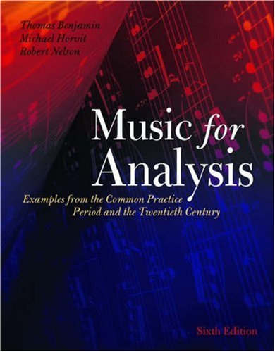 9780195188158: Music for Analysis: Examples from the Common Practice Period and the Twentieth Century Includes CD