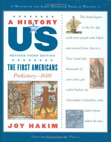 9780195188943: A History of US: The First Americans: Prehistory-1600 A History of US Book One