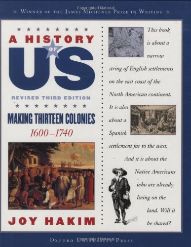 9780195188950: A History of US: Making Thirteen Colonies: 1600-1740 A History of US Book Two