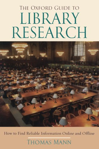 9780195189988: The Oxford Guide to Library Research