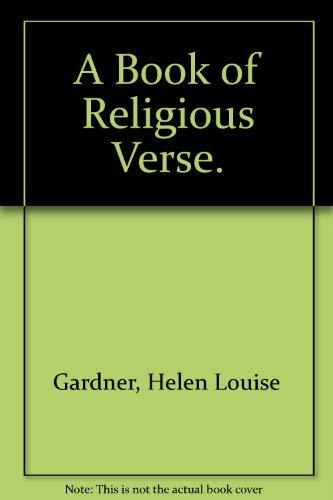 9780195196665: A Book of Religious Verse.