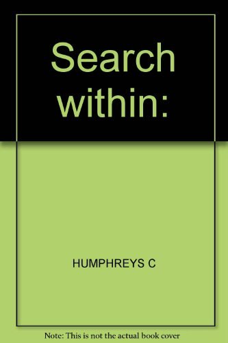 9780195199659: The Search Within