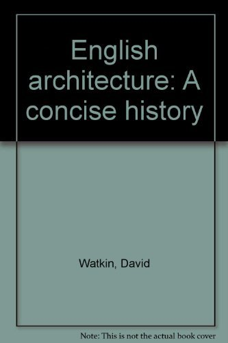 9780195201475: English architecture: A concise history