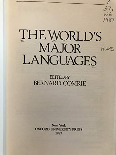 9780195205213: The World's Major Languages