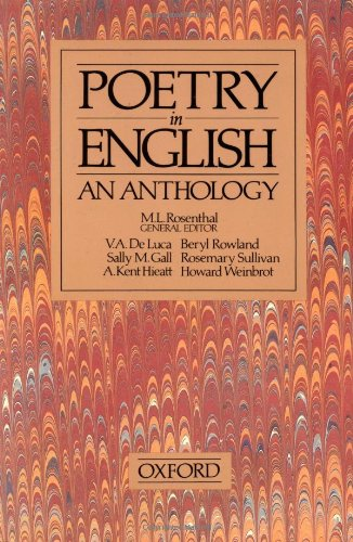 9780195205398: Poetry in English: An Anthology
