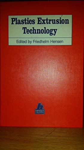 9780195207606: Plastics Extrusion Technology (Hanser Publishers)