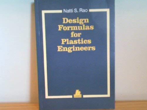 9780195209082: Design Formulas for Plastics Engineering