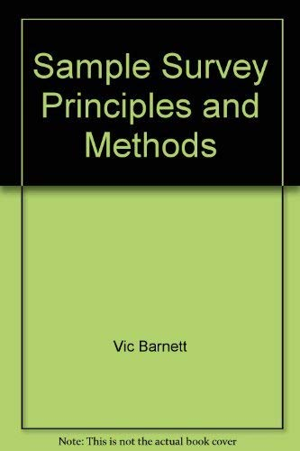 9780195209259: Sample Survey: Principles & methods