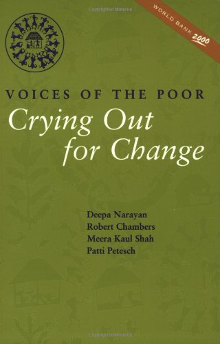 9780195216028: Crying Out for Change: Voices of the Poor (World Bank Publication)