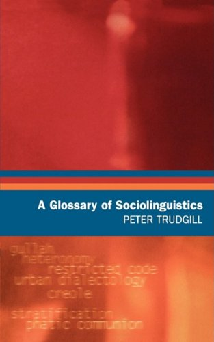 9780195219432: A Glossary of Sociolinguistics