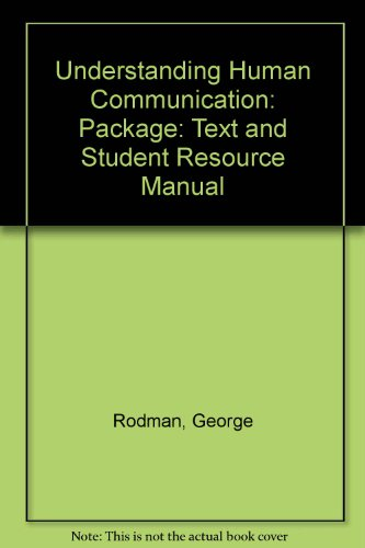 9780195219999: Understanding Human Communication: Package: Text and Student Resource Manual