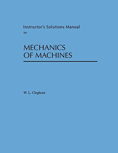 9780195222128: Instructor's Solution Manual for Mechanics of Machines