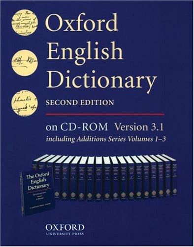9780195222173: Oxford English Dictionary: Single User Version