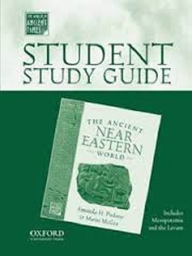 Holt Middle School World History California: Study Guide Ancient Near Eastern World Grade 6 Ancient Civilizations (0195222946) by RINEHART AND WINSTON HOLT