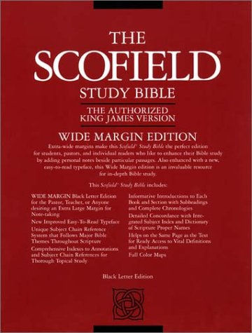 9780195273205: Holy Bible: King James Version, Old Scofield rg Study Bible, Wide Margin