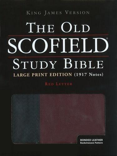 9780195274868: The Old Scofield® Study Bible, KJV, Large Print Edition (Black/Burgundy Basketweave)