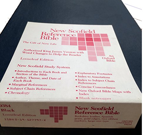 9780195277975: New Scofield Reference Bible - KJV - Black - Looseleaf - Berkshire Leather