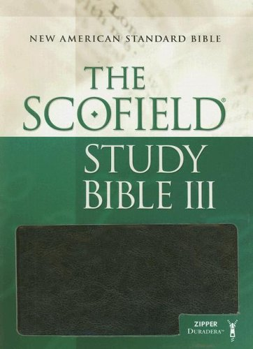 9780195280357: The Scofield® Study Bible III, NASB (zippered styles) - Black with Brown Accents: New American Standard Bible