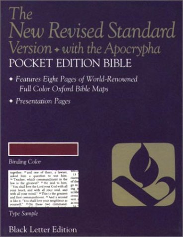 9780195282030: The New Revised Standard Version Pocket Edition Bible with Apocrypha (Anglicized Text)