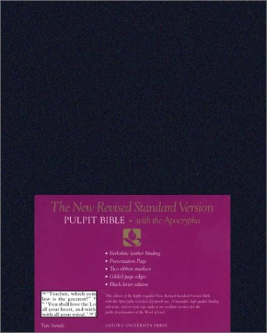 9780195282382: The New Revised Standard Version Pulpit Bible with Apocrypha