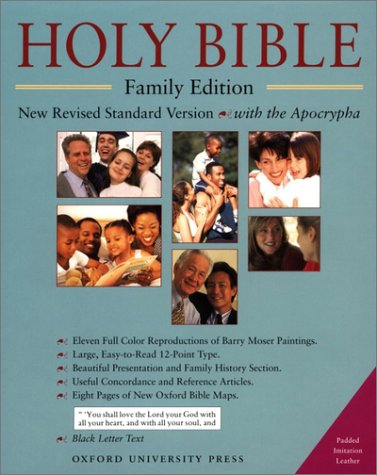 9780195282528: The Holy Bible with Apocrypha, Family Edition: New Revised Standard Version with Apocrypha