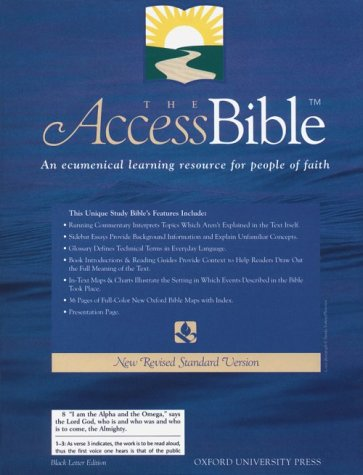 9780195282559: The Access Bible, New Revised Standard Version (Bonded Leather Black 9871)