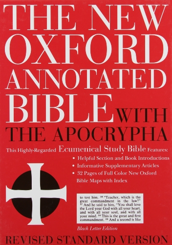 9780195283358: The New Oxford Annotated Bible with the Apocrypha, Revised Standard Version, Expanded Edition (Genuine Leather Black 8914A)