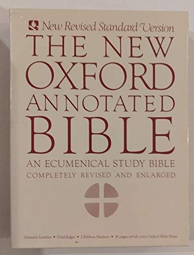 9780195283723: The New Oxford Annotated Bible, New Revised Standard Version (Burgundy Leather)