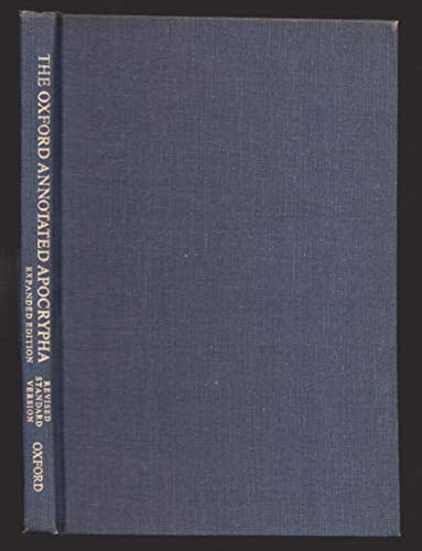 Oxford Annotated Apocrypha: Revised Standard Version (0195283732) by Metzger, Bruce M.
