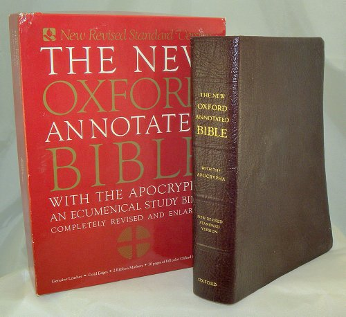9780195283754: Holy Bible: New Oxford Annotated Bible W/Apocrypha, New Revised Standard Version/ Burgundy Leather/9914A