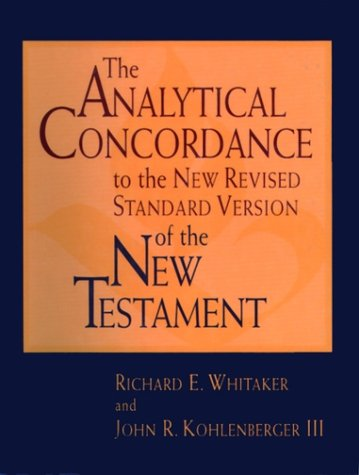 9780195284430: The Analytical Concordance to the New Revised Standard Version of the New Testament