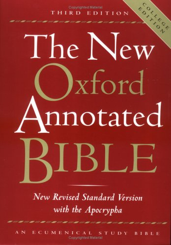 9780195284843: The New Oxford Annotated Bible, New Revised Standard Version with the Apocrypha, Third Edition (Hardcover College Edition 9720A)