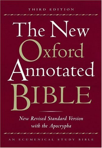 9780195284959: The New Oxford Annotated Bible, New Revised Standard Version with the Apocrypha, Third Edition (Genuine Leather Burgundy Indexed 9714A)