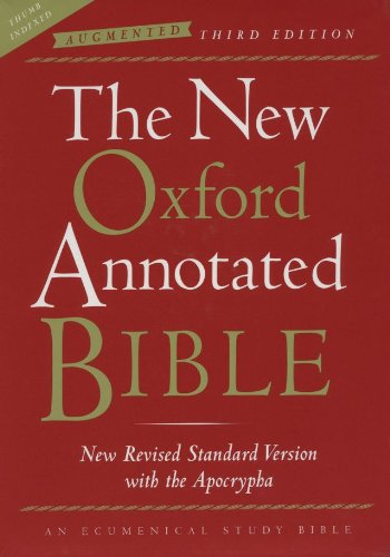 9780195288858: The New Oxford Annotated Bible with the Apocrypha, Augmented Third Edition, New Revised Standard Version, Indexed