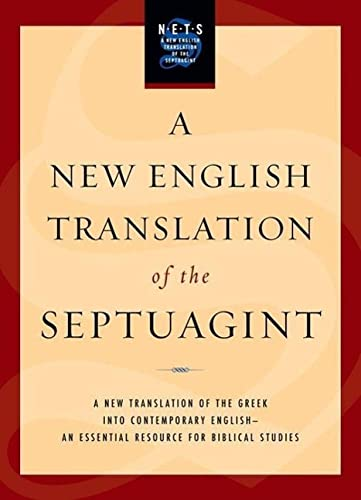 9780195289756: A New English Translation of the Septuagint