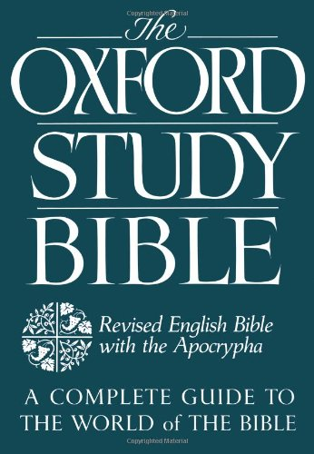 9780195290011: The Oxford Study Bible: Revised English Bible with Apocrypha