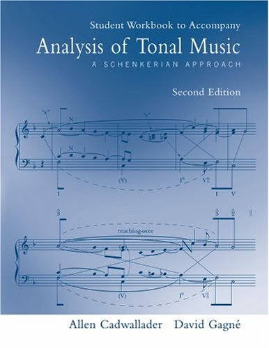 9780195301779: Student Workbook to accompany Analysis of Tonal Music: A Schenkerian Approach, Second Edition