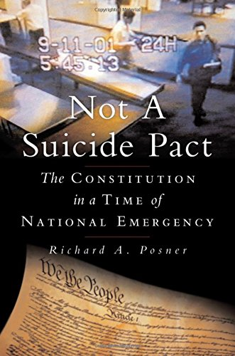 9780195304275: Not a Suicide Pact: The Constitution in a Time of National Emergency (Inalienable Rights)