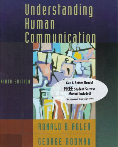 9780195305142: Understanding Human Communication, Ninth Edition and the Student Success Manual to accompany Understanding Human Communication, Ninth Edition