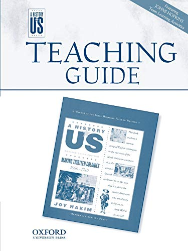 9780195306132: A History of US: Making Thirteen Colonies 1600-1740 Teaching Guide for Grade 8