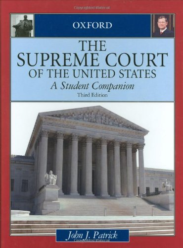 9780195309256: The Supreme Court of the United States: A Student Companion (Oxford Student Companions to American Government)