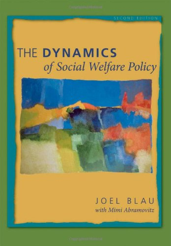 9780195311709: The Dynamics of Social Welfare Policy
